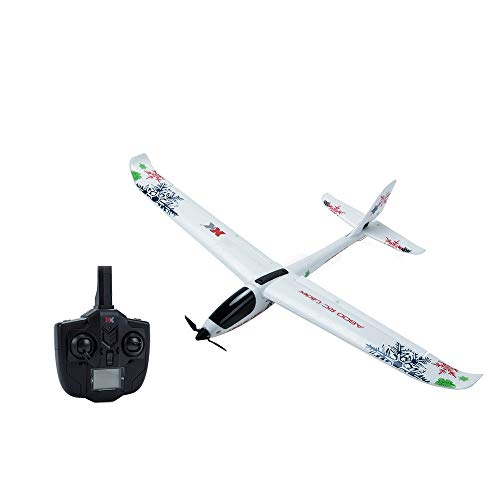A800 RC Airplane Plane Remote Control Glider Ready to Fly, 2.4GHz Radio Control EPO Aircraft with 6-Axis Gyro Stabilize for Kids Adults Beginners, 500mAh LiPo Battery for 20min Playing