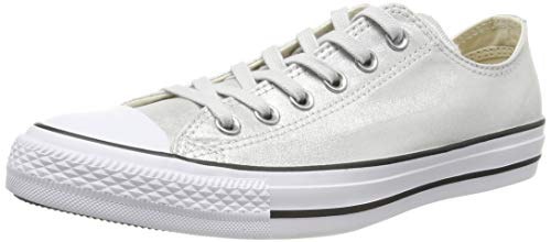 Converse Damen Chuck Taylor All Stars Sneaker, Silber (Mouse/Black/White 000), 40 EU
