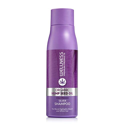 redken blonde shampoos Wellness Premium Products Silver Shampoo for Blonde & Grey Hair Tones Unwanted Brassiness & Yellow Undertones - 500ml