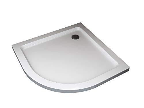 Plato de ducha semicircular rebajado de abs con valvula incluida H.5 cm (90)