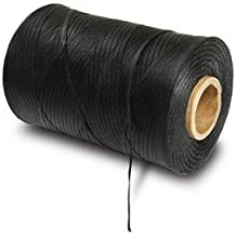 Waxed Lacing Tape, 500 Yard Spool, Black