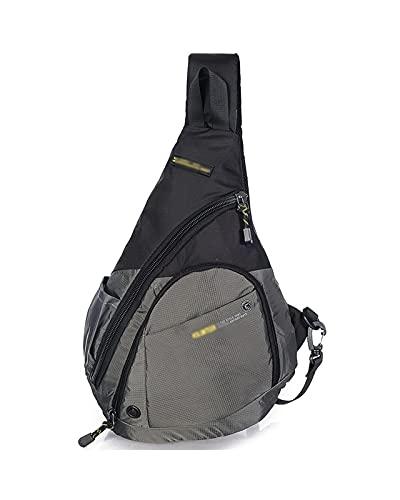 JDJD Borsa Multifunzionale Petto Crossbody Imbracatura dello Zaino degli Uomini di Oxford Tessuto Impermeabile Sports Big Messenger Bag Zaino Outdoor (Color : Gray, Size : 31 x 10x 43 cm)