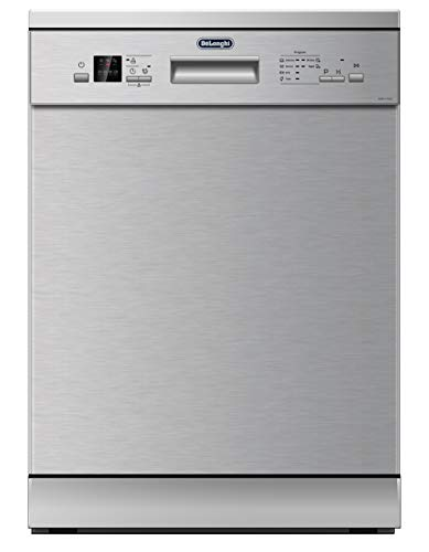 Delonghi WMD70X Freestanding Dishwasher – 6 Wash Programs & Half Load Ability – Perfect for Crystal and Porcelain…