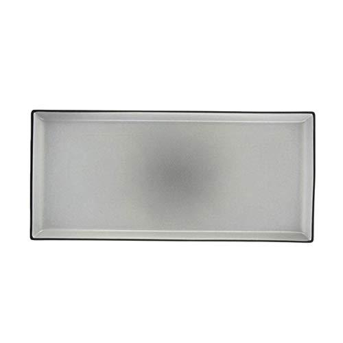 Revol RV649567 Assiette à Servir Equinoxe, Porcelaine, Poivre, 32,5 x 15 x 1,8 cm