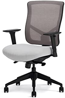 Highmark 607-E1-SS3-A56 Bolero Modern Task Chair Seat Real Red Back Silver