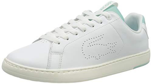Lacoste Damskie buty sportowe Carnaby Evo Light-wt 1201, biały - biały biały miętowy - 36 EU