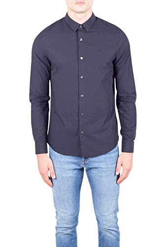 CALVIN KLEIN JEANS - Men's black stretch cotton slim shirt - Size...