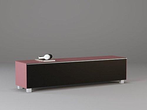 lisel-de Soundboard 7738 Maja in Glas Hibiskus matt/Akustikstoff Schwarz 180x43x42cm Soundconcept Glas