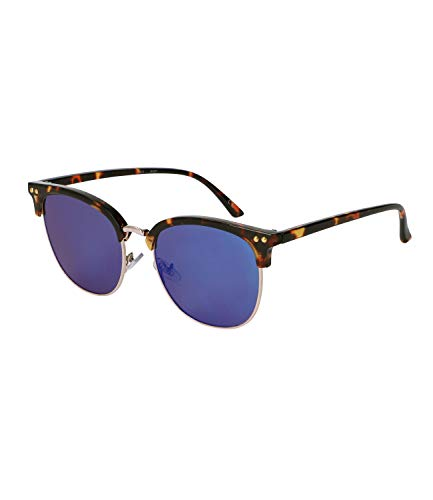 SIX Gafas de sol con lentes tintadas azules y marco dividido en dos caras (437-525)