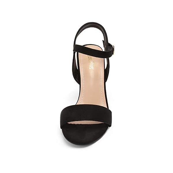 DREAM PAIRS Women's Open Toe Ankle Strap High Chunky Heel Sandals