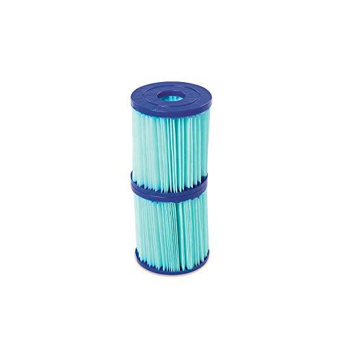 Bestway Flowclear Antimikrobielle Filterkartusche, Gr.I: 8 x 9 cm, Doppelpack