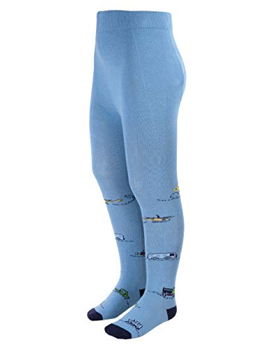 maximo Baby-Jungen Fahrzeuge glatt Strumpfhose, Blau (Jeans/Indigo 4004), (Herstellergröße: 92/98)
