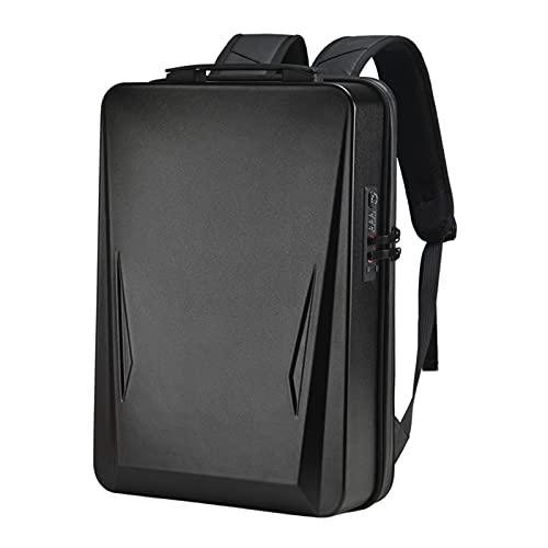F Fityle Zaino per Laptop con Rigido Zaino per Laptop da Gioco Impermeabile Zaini per la Scuola Zaini da Viaggio per Uomini d'Affari - Nero