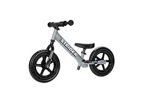 Strider - 12 Sport Balance Bike, Ages 18 Months to 5 Years, Matte Gray