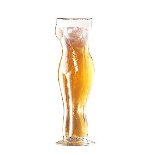 CZZZ Bicchiere di Vino di Cristallo,Bar Boccale di Birra Sexy -Vino Rosso O Bicchiere da Vino Bianco-100% Senza Piombo-Adatto per Riunioni di Famiglia di Partito
