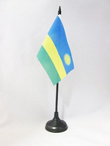 AZ FLAG TISCHFLAGGE RUANDA 15x10cm - Republik RUANDA TISCHFAHNE 10 x 15 cm - flaggen