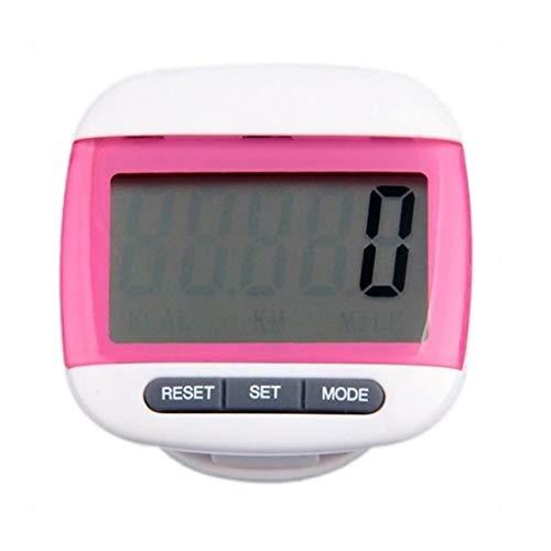 Gehen Pedometer Mit Clip Accurate Schrittzähler Große LCD-Walking Distance Miles Kalorienzähler Täglich Zielmonitor Mit Knopfbatterie