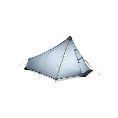 MOAAA 1 Man Best Camping Tent Ultralight None Pole Waterproof Single Person Outdoor Hiking Backpacking Camp Tent,Gray