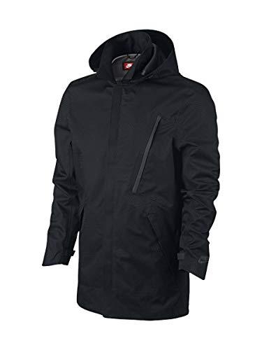 Nike Mens Sportswear Bonded Blazer Tech Waterproof Jacket (Small, Black)