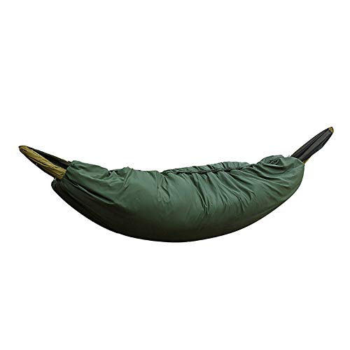 FJROnline Ultra-light 2 Meter Camping Hammock Underquilt Under Quilt Blanket Sleeping Bag Fits 0℃-15℃ Cold Winter Outdoor Activity (Dark green)