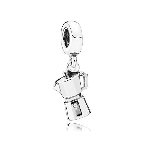 Fit Original Pandora Bracelets 925 Sterling Silver Charm Bead Coffee Lovers Women Bangle Diy Jewelry Gift