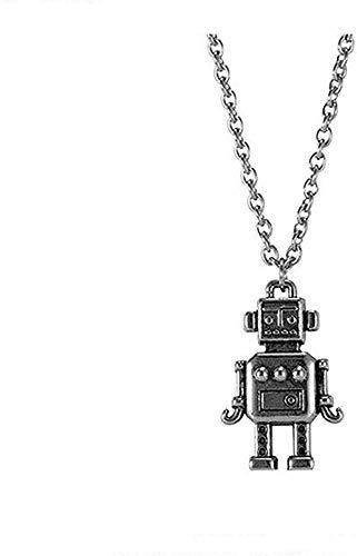 NC190 Collar con colgante de robot de acero inoxidable para