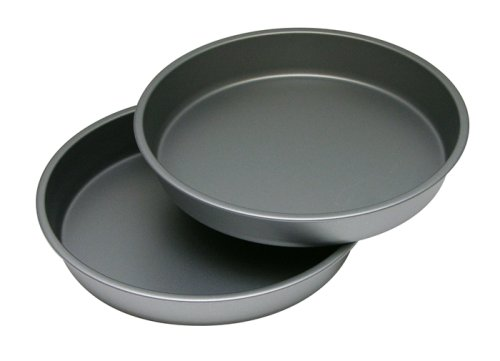 "G & S Metal Products Company HG268 OvenStuff Nonstick Round Cake Baking Pan 2 Piece Set, 9"", Gray"