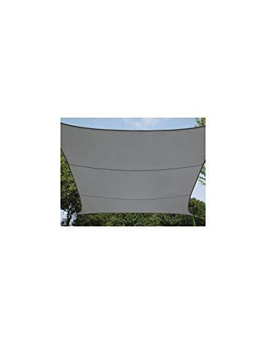 Perel GSS4500PEC Wasserdurchlässiges Sonnensegel - Viereck, Dunkelgrau, 500 x 500 x 500 cm