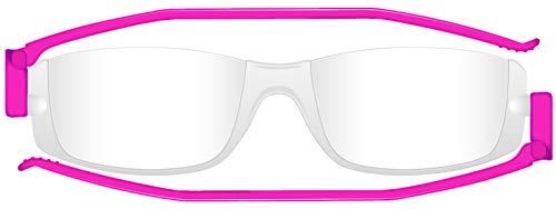 ナンニーニ コンパクトグラス2 老眼鏡 折りたたみシニアグラス 度数+3.50 フクシャ 新色