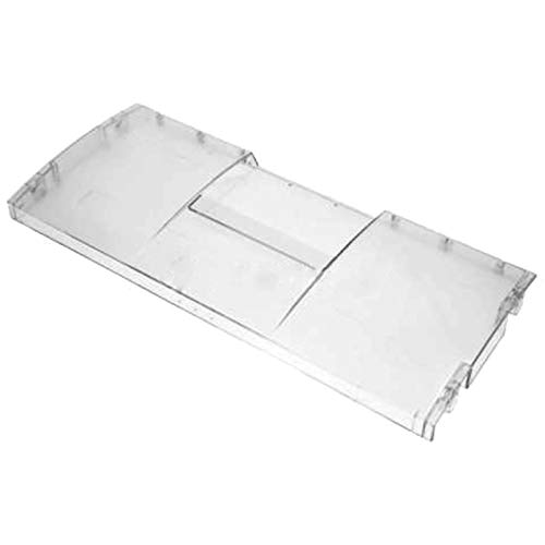 SPARES2GO White Basket Drawer Front Flap Cover for General Electric GE 570 Koelkast diepvriezer