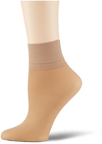 KUNERT Damen Glanz Fein Socken, 163000 Satin Erscheinungsbild 20, Gr. 39/42, Hautfarben (Cashmere 0540)