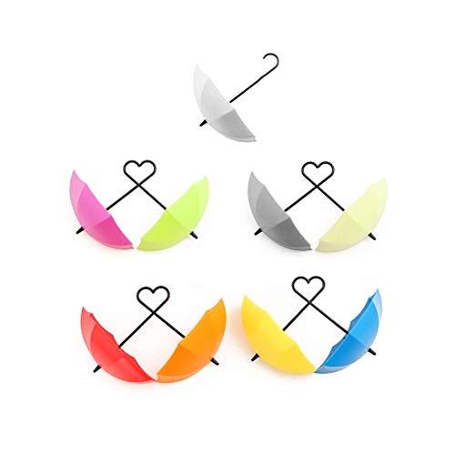 Ruiting 9 Stück Türhaken Schlüsselhaken Regenschirm DIY deko Haken für Schlüssel Kleider Haustür Wandhaken für Wohnzimmer Kinderzimmer Regenschirm Bunte 9 Stück/Set