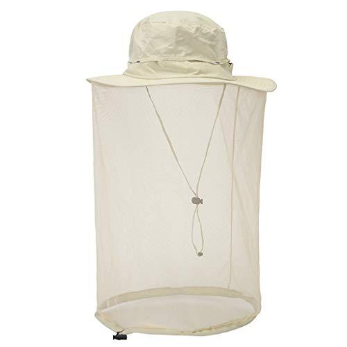 VEKDONE Unisex Mosquito Head Net Hat,Sun Hat Beekeeper Hat for Outdoor Fishing Gardening Camping Hiking Beekeeping