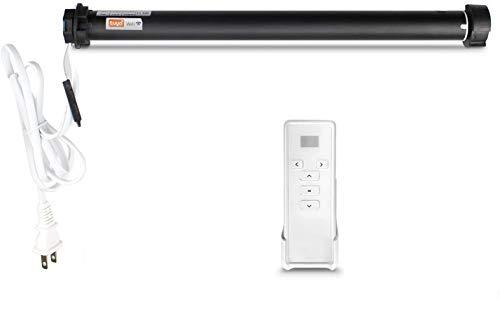 zemismart Tuya 2.4G WiFi motorizado para persianas enrollables 38mm tubo motor de obturador inteligente Tuya APP control temporizador,Alexa Echo Voice,con mando a distancia,sin necesidad de hub