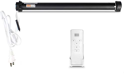 zemismart Tuya 2.4G WiFi Motorized for 38MM(1-1/2 inches) Tube Roller Blinds Motor,Smart Shutter Motor Smart Life/Tuya APP Timer Control,Alexa Echo Voice,with Remote,No Need Hub(Tuya WiFi Motor)