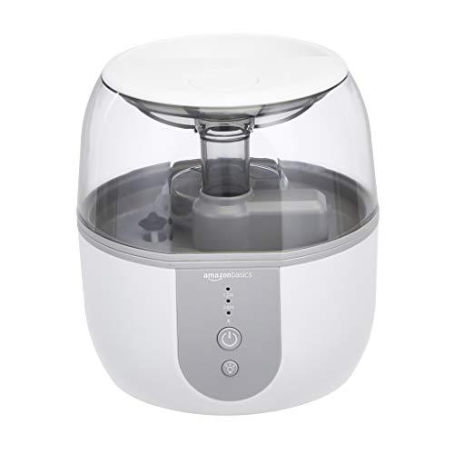 AmazonBasics Humidifier with Smart Auto-Humidification, Aroma Diffuser and Nightlight - 2-Liter, White