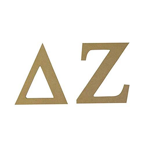 Delta Zeta Sorority 7.5 Inch Unfinished Wood Wooden Letter Set dz