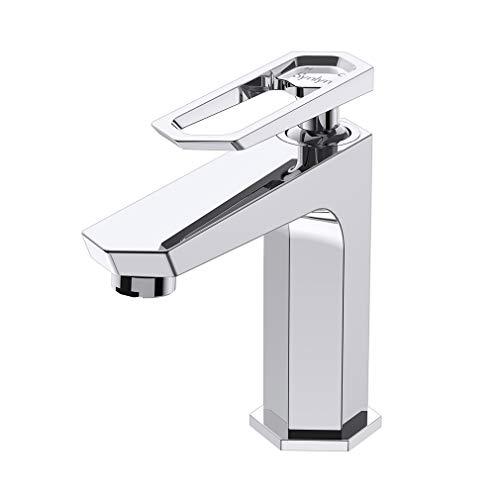 Synlyn Wasserhahn Bad Armatur Waschtischarmatur Einhandmischer Waschbeckenarmatur Mischbatterie Badarmatur für Badezimmer - Kupfer Verchromt