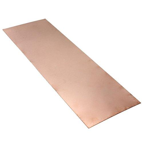 TOOGOO(R)1 pcs feuille de cuivre 0,5 mm * 300 mm * 100 mm feuille de metal de cuivre pur