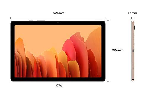 Samsung Galaxy Tab A7, Android Tablet, LTE, 7.040 mAh Akku, 10,4 Zoll TFT Display, vier Lautsprecher, 32 GB/3 GB RAM, Tablet in Gold