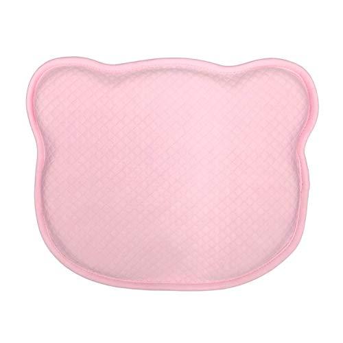 HuBorns - Cojín para Bebé para Prevención de Plagiocefalia, Almohada Desenfundable para Prevenir y Curar la Cabeza Plana de Bebés Recién Nacidos. Dos Fundas de Regalo, Rosa + Blanco.