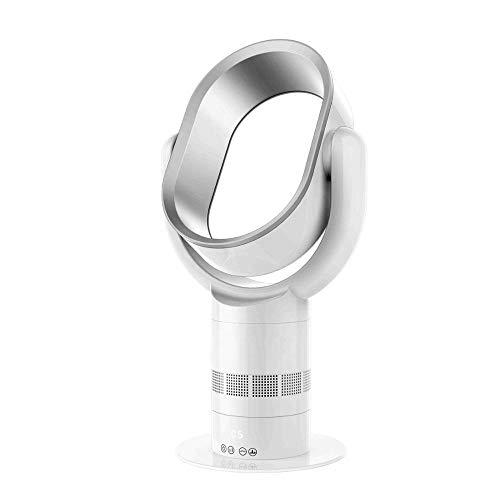 Ventilador de pie silencioso, ventilador torre con mando a distancia y pantalla táctil LED, ventilador sin aspas con 10 velocidades, temporizador de 9 horas y 6 metros, mando a distancia