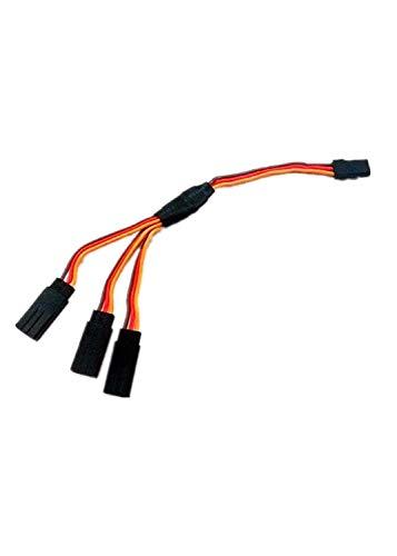 VIDOO 5X 15Cm Triple 3-Way Servo Extension Y Cable Wire Für Futaba