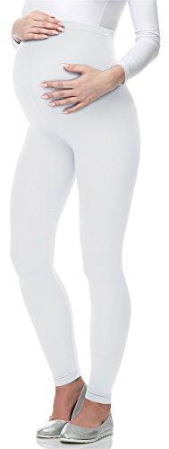 Be Mammy Leggings Premaman Lunghi 02(Bianco, M)