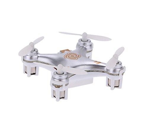 MEDIA WAVE store CX10A Mini Drone quadricottero Argento modalità di Guida Headless Mode Cheerson luci LED