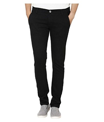 Urbano Fashion Black Slim Fit Stretch Jeans for Men