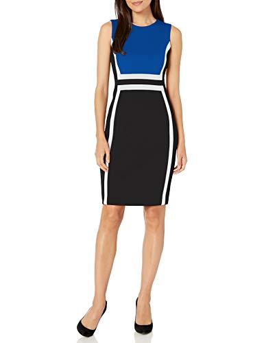 Calvin Klein Women's Sleeveless Colorblock Sheath Dress
