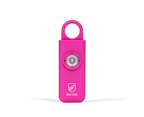 Original Defense Self Defense Siren. Authentic Personal Keychain Security Alarm for Women, Kids & Elders. Personal Alarms (Magenta)