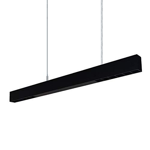 ECOJAS Lineares Licht Architektonisch Suspension Linear-Lichtkanal Linkable 40W 4000K Cool White Pendelleuchte 0-10V Dimmbare Pendelleuchte für kommerzielle Beleuchtung, Büro (Schwarz)