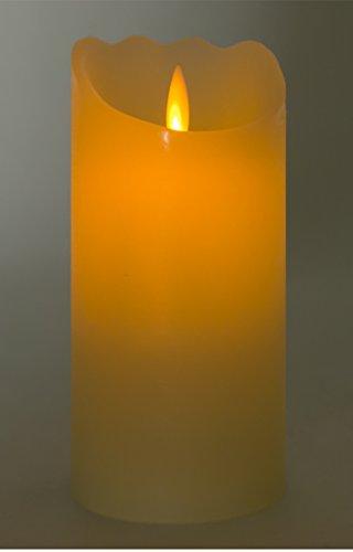 Buri LED de Vela de Cera con Llama danzante 17,5x 8cm con Temporizador stumpe Deko Vela de Adviento Vela